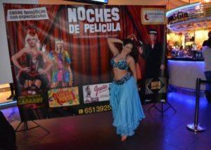 bailarina cena noches de película en Gijón