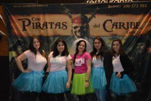 cena temática piratas del caribe Gijón Despedidas
