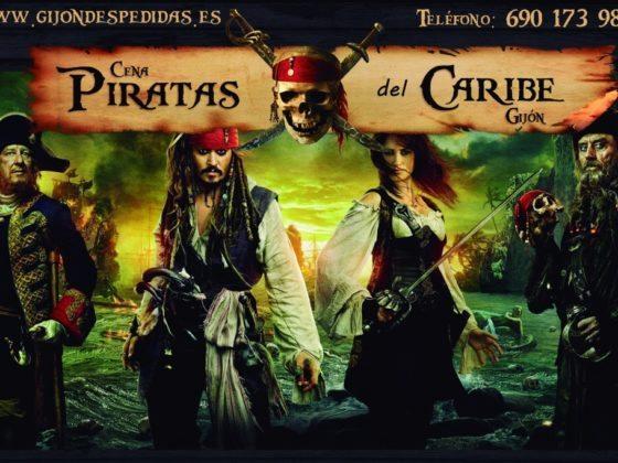 cenas piratas del caribe Gijón despedidas