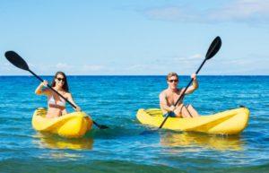 despedida en verano haciendo ruta en kayak en Gijón