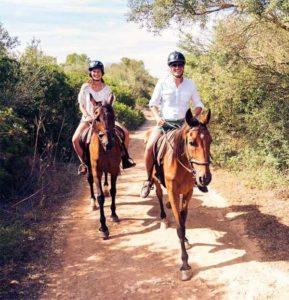 ruta a caballo en otoño en Gijón Despedidas