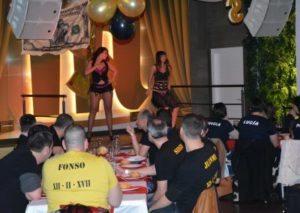 espectáculo en la cena noches de pelicula en Gijón despedidas